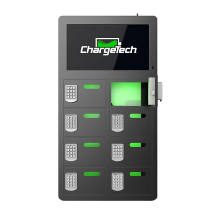 8 Bay Top Video Charging Locker